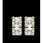 """Pendientes """"Hugo"""" Oro Amarillo 18k con circonita"""