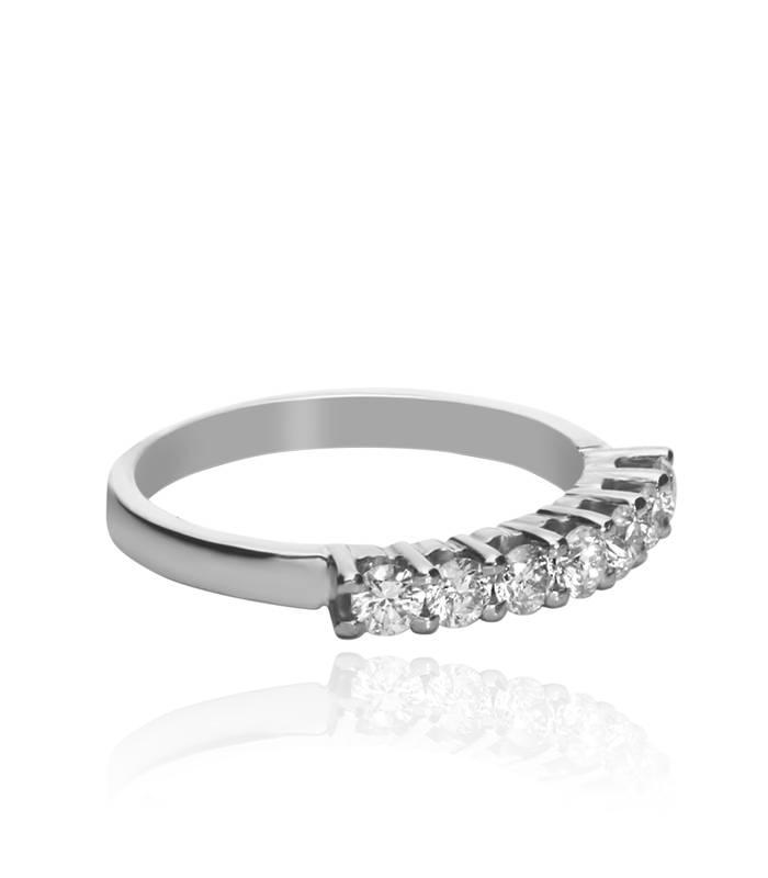 """Anillo """"Felicia"""" Oro Blanco y 7 Diamantes"""