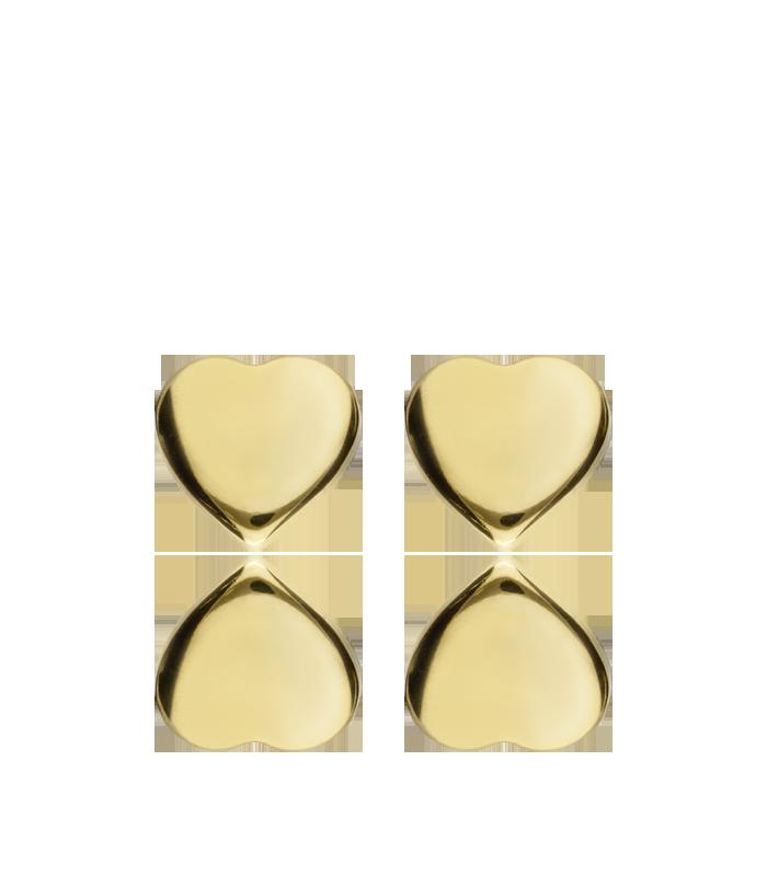 "Pendientes ""HeartBeat"" Plata Bañada en Oro 18k"