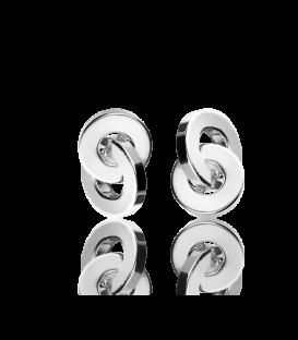 """Pendientes """"Circle Zero"""" Oro Amarillo 18k"""