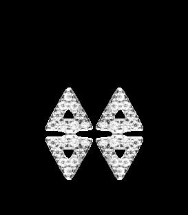 Pendientes Triángulo Circonitas Plata Primera Ley