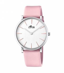 Reloj Lotus de mujer Minimalist correa rosa y esfera blanca 18776/1