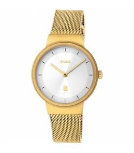 Reloj Rond Mesh de acero IP dorado 000351535