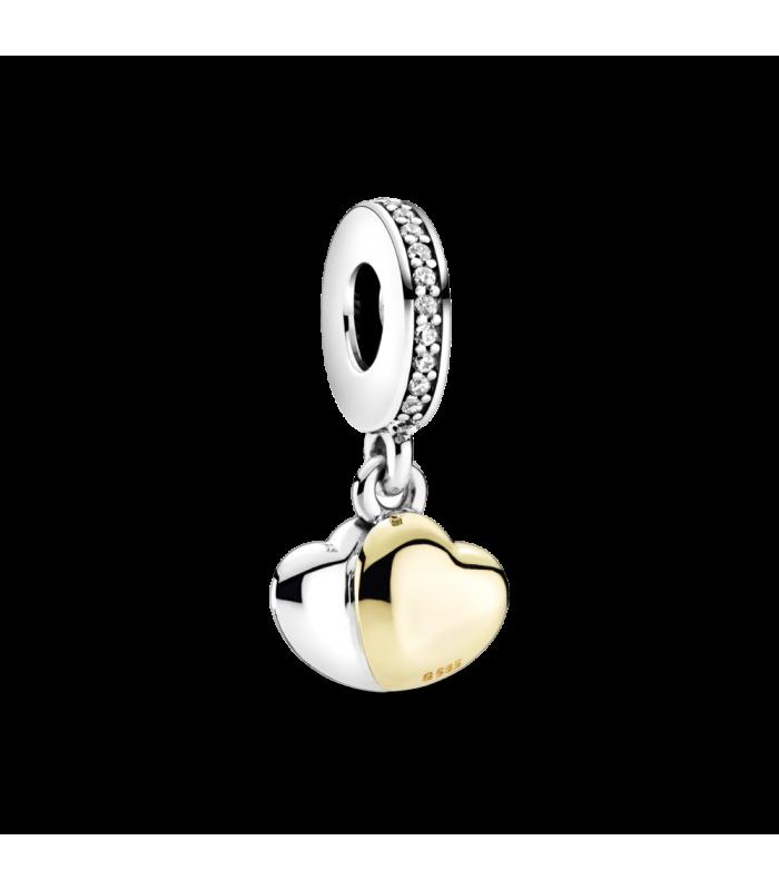 Charm en Pandora Shine Colgante Doble Corazón en Dos Tonos 799162C01