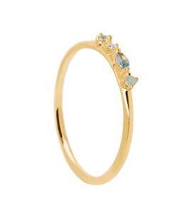 Anillo Pd Paola Midnight Blue Gold AN01-193