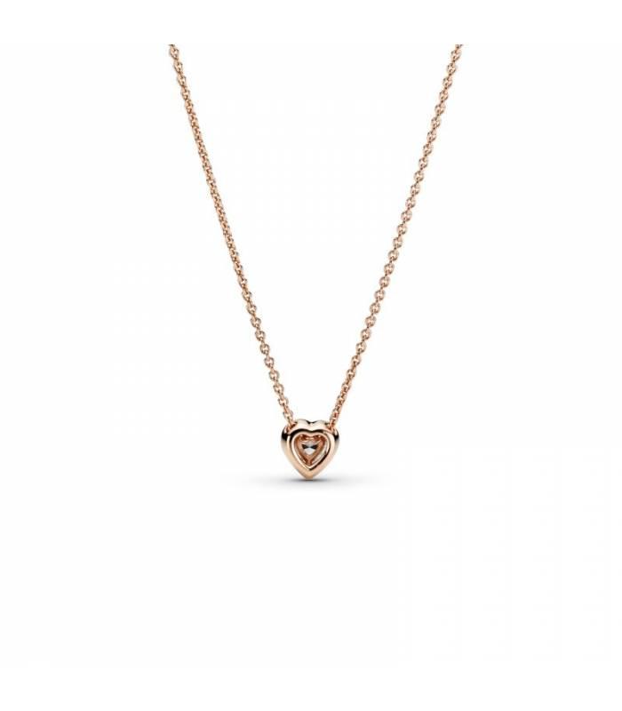 Collar en Pandora Rose Corazón Brillante 388425C01-45