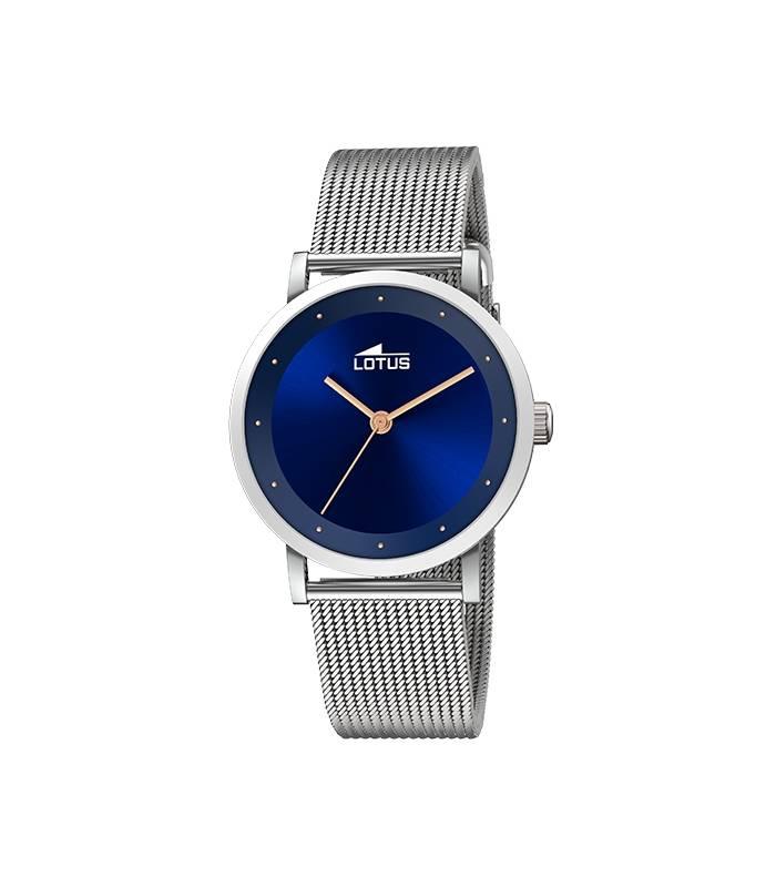 Reloj Lotus Mujer Trendy esfera azul marino correa acero 18790/2