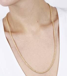 Cordón Salomónico Zincir Oro 18 k de 60 cm