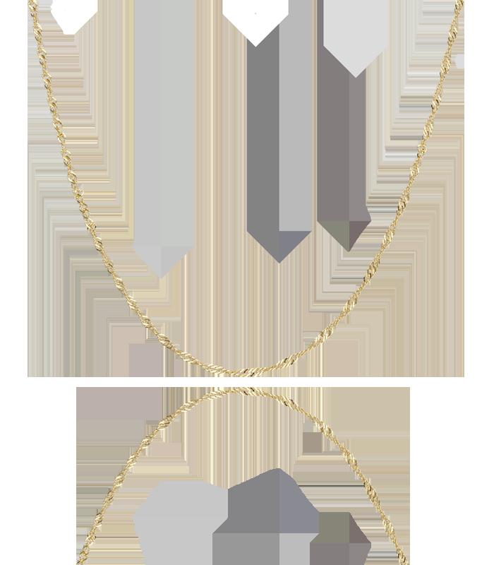 Cadena Oro 18k Singapur 1,2mm