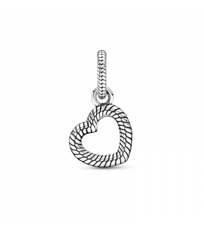 Colgante Pandora en plata de ley Cadena de Serpiente y Corazón Abierto 399094C00