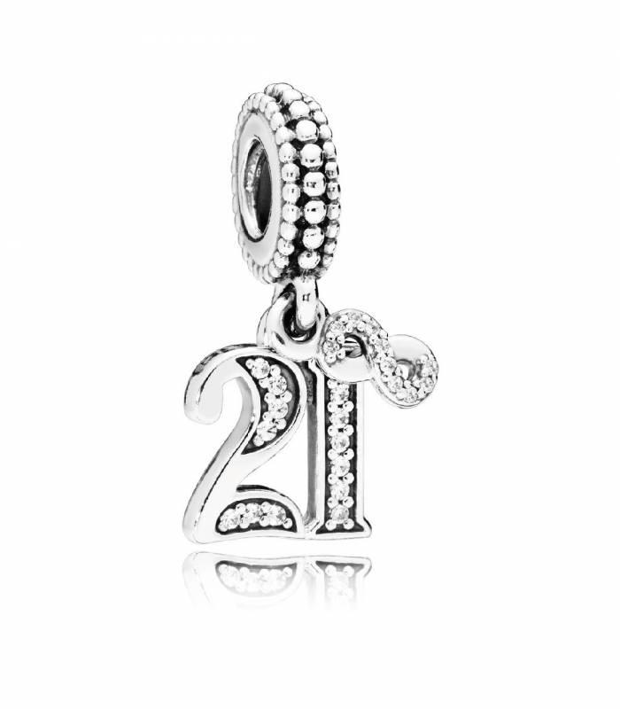 Charm Pandora colgante en plata de ley 21 Años de Amor 797263CZ