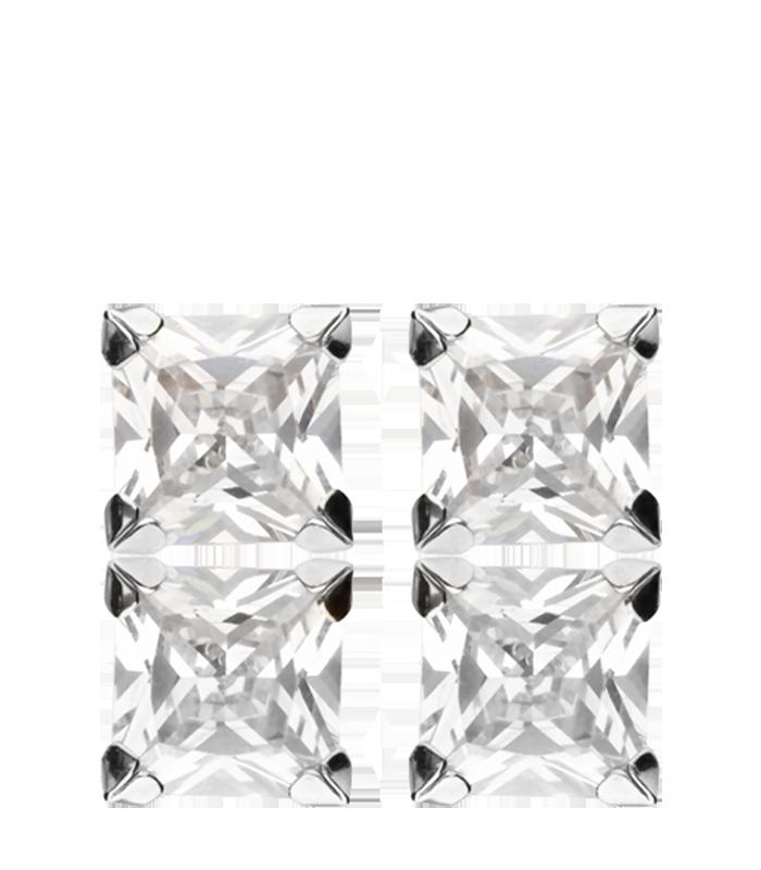 Pendientes cuadrados con Circonitas