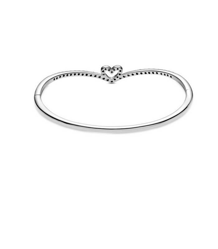 Pulsera en plata de ley Corazón Espumoso Brillante 599297C01