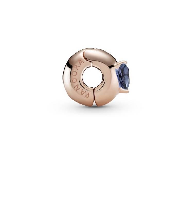 Clip en Pandora Rose Corazón Solitario Azul 789203C02