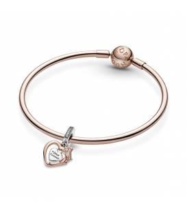 Charm Colgante en Pandora Rose Corazón y Flor Rosa 789290C01