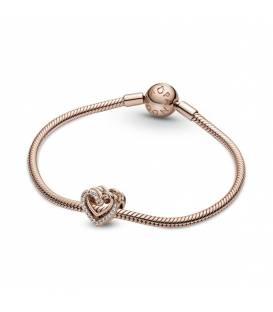 Charm en Pandora Rose Corazones Brillantes Entrelazados 789270C01
