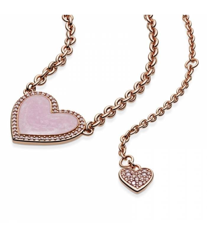 Collar en Pandora Rose Corazón Remolino Rosa 389279C01-50
