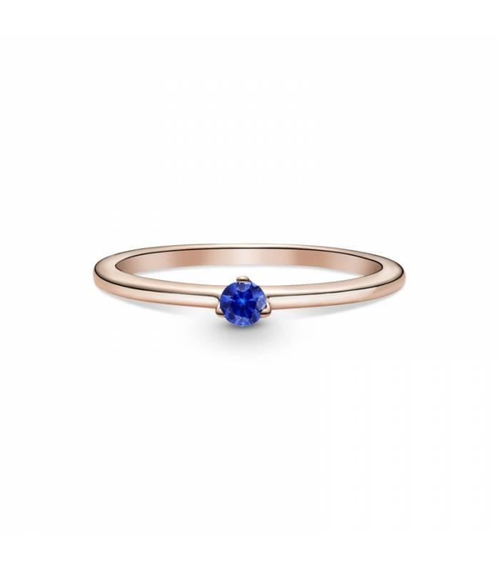 Anillo en Pandora Rose Solitario Azul Estelar 189259C04