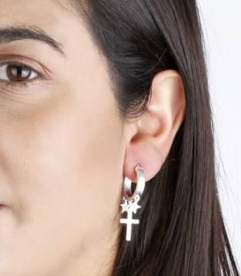 """Pendientes """"New Amulets"""" Aros en Plata de Primera Ley"""