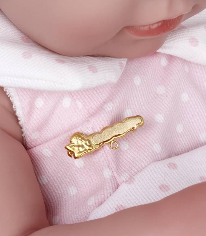 Alfiler bebé angelito Oro 18k
