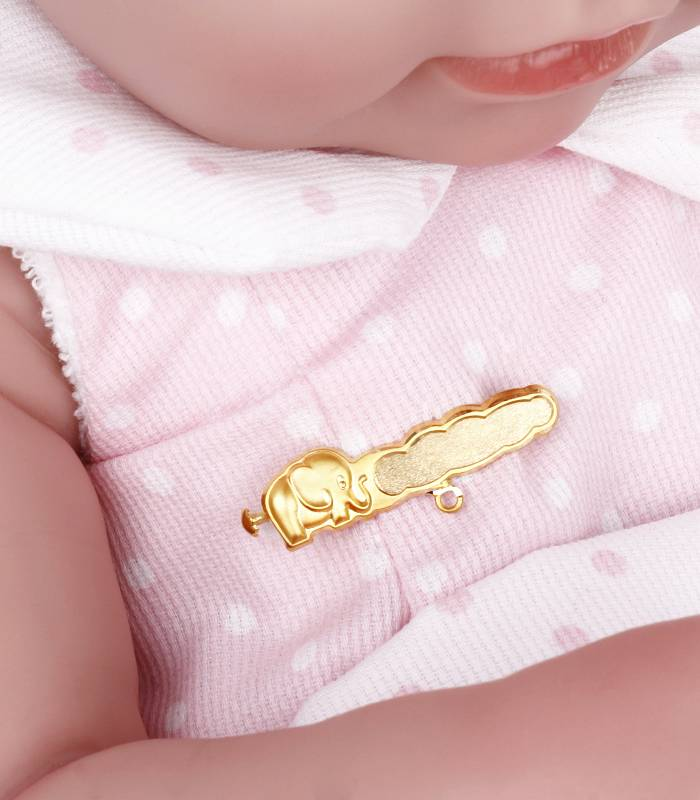 Alfiler Bebé Elefantito Oro 18k