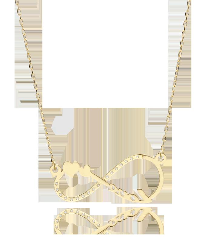 Gargantilla Infinito Love Oro 18k Amarillo