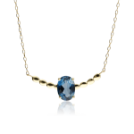 "Gargantilla ""Candy"" Oro 18k y Topacio Azul London Blue"