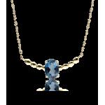 """Gargantilla """"Candy"""" Oro 18k y Topacio Azul London Blue"""
