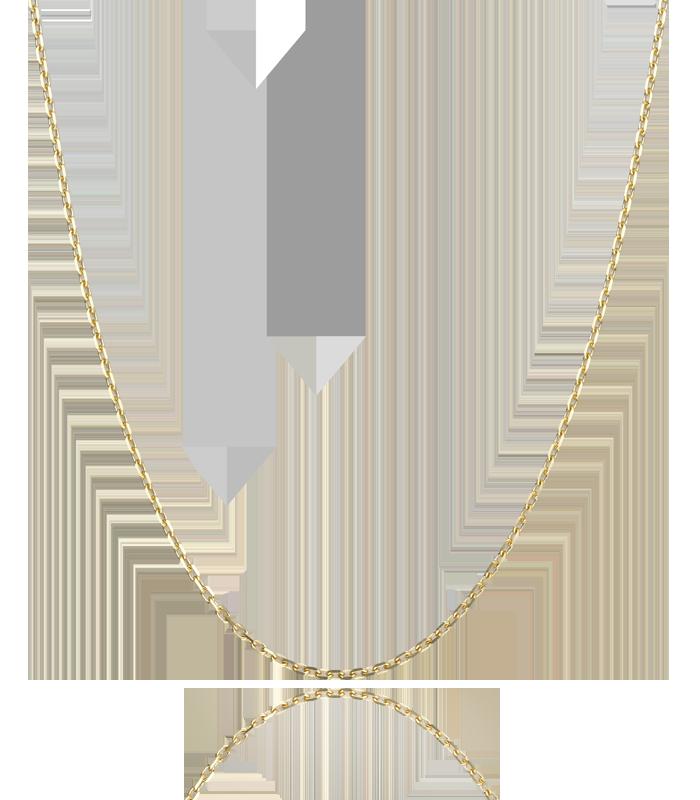Cadena Platón Oro 18k de 45 cm