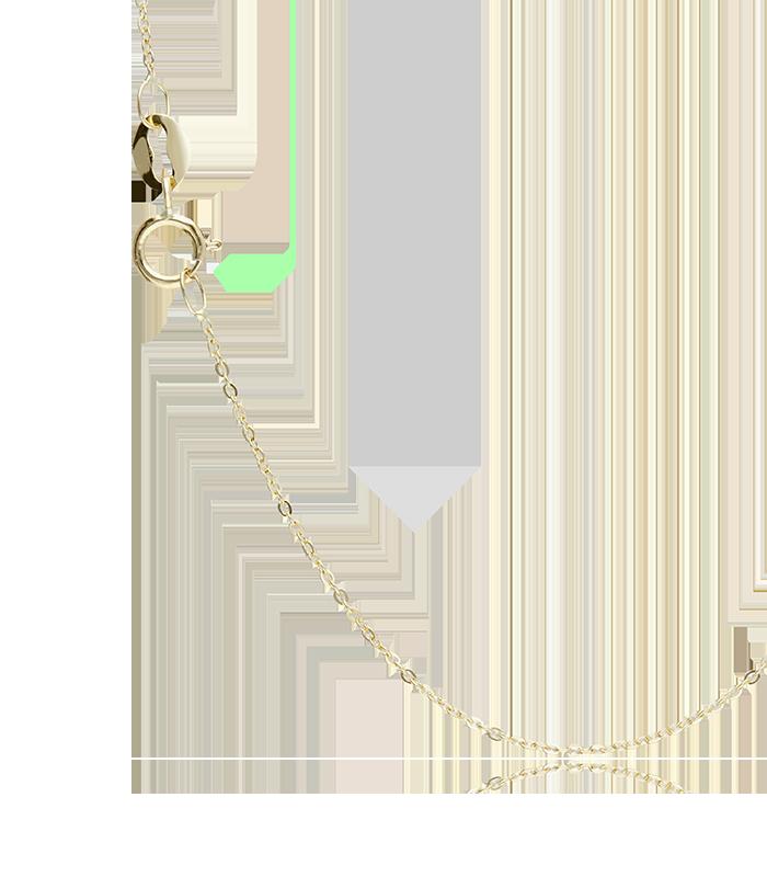 "Colgante con cadena ""N"" circular con diamantes"
