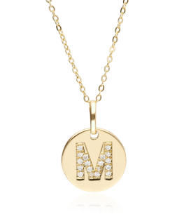 """Gargantilla """"Bright M"""" en Oro 18k y Diamantes"""