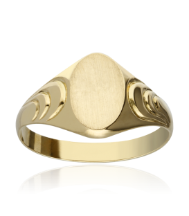 "SELLO ""BENNOUR"" GALLONEADO ORO 18K"