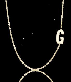 "Gargantilla Glam Letra ""G"" oro 18k"