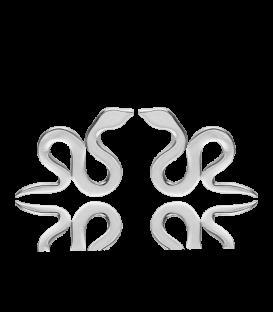 Pendientes de Serpiente en Plata de Primera Ley