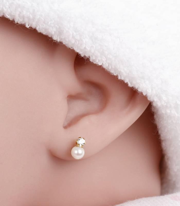 Pendientes Oro 18K y perlas