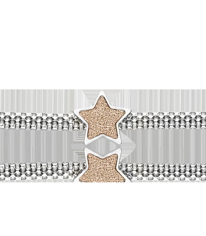 """Pulsera """"Georgia II"""" Estrella en Plata de Primera Ley"""