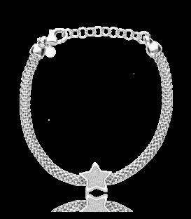 """Pulsera """"Georgia"""" Estrella en Plata de Primera Ley"""