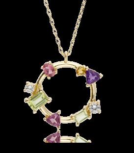 """Gargantilla """"Paola Stone"""" en Oro 18k y piedras multicolor"""