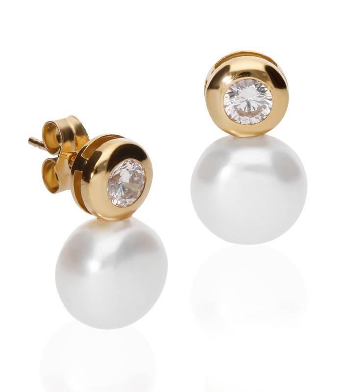 Pendientes Oro y Perlas
