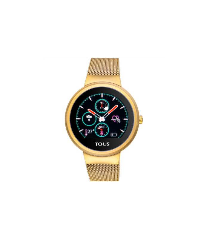 Reloj Tous activity Rond Touch de acero IP dorado 000351645