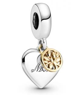 Charm colgante Pandora corazón con árbol de la vida en oro 799366C00
