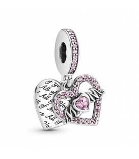 Charm colgante Pandora doble corazón, mamá grabado 799402C01