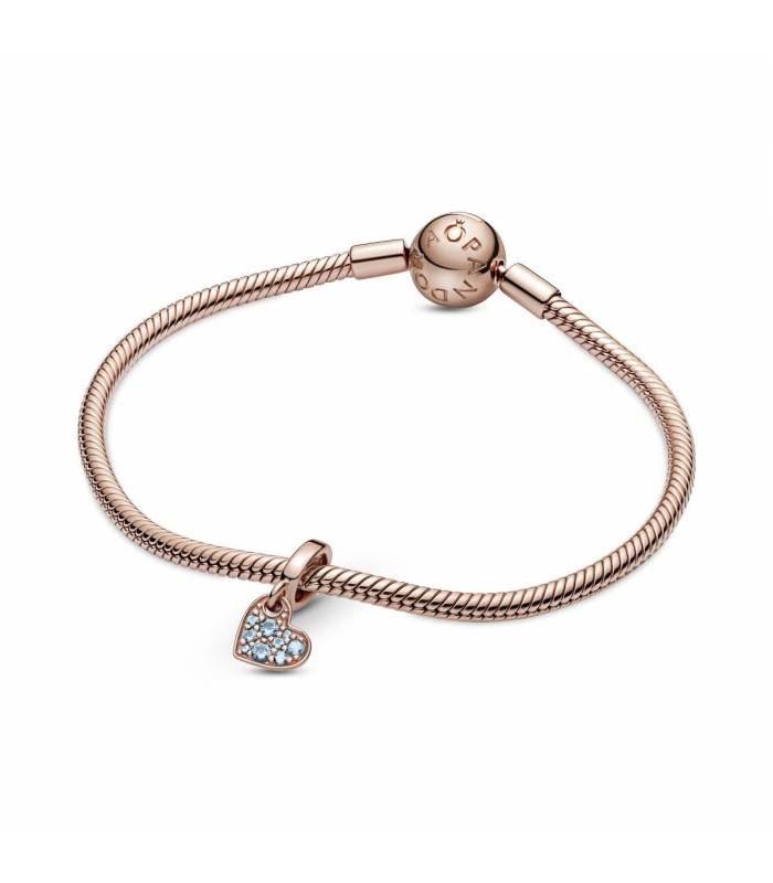 Charm Pandora Corazón colección rose y circonitas azules 789404C01