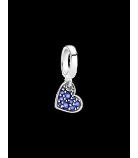 Charm Pandora Colgante plata Corazón Azul Estelar Pavé 799404C01