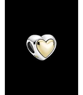 Charm Pandora Corazón Cúpula Dorada 799415C00