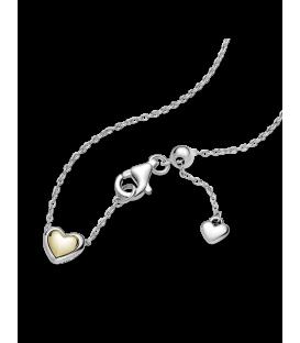 Collar Pandora Corazón Cúpula Dorada 399399C00-45