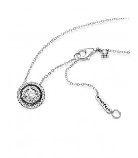 Collar Pandora plata Doble Halo Brillante 399414C01