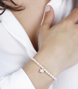 """Pulsera """"Pétale"""" de perlas cultivadas y oro 18k"""