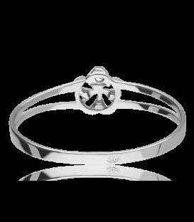 Conjunto Oro blanco 18k perla y diamante