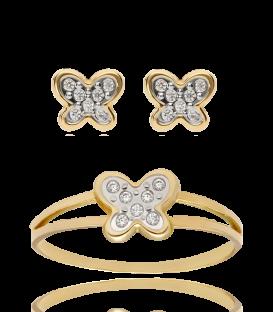 Pendientes Oro Mariposas